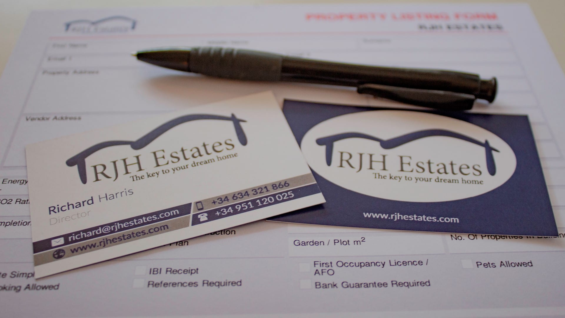 Sell My Property in Spain - RJH Estates - Listing Form - Property for Sale - Real Estate Agents in Spain